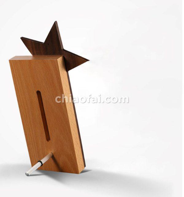 五角星實木獎牌