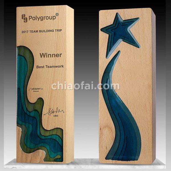 實木雕刻樹脂獎杯