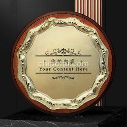 木製圓形金屬片獎牌