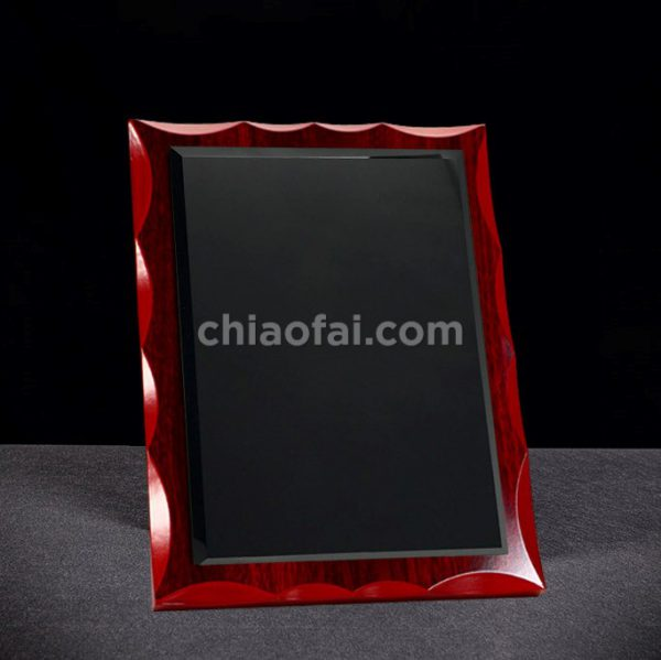 紅木色黑水晶獎牌